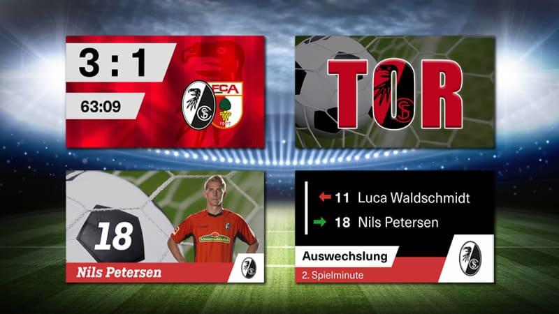 Stadion TV - Scoreboard - Auswechslung - TOR - Animation